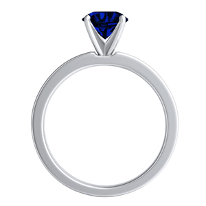 JOAN  Classic  Blue  Sapphire  Engagement  Ring  In  14K  White  Gold  With  0.50  Carat  Pear  Stone