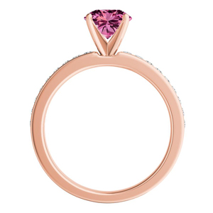 ALENA  Classic  Pink  Sapphire  Engagement  Ring  In  14K  Rose  Gold  With  0.50  Carat  Marquise  Stone