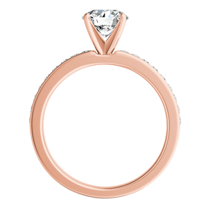 ALENA Classic Diamond Engagement Ring In 14K Rose Gold