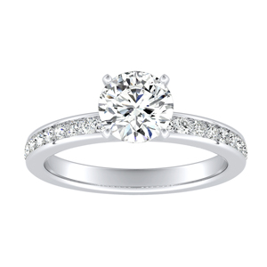 ALENA Classic Diamond Engagement Ring In 14K White Gold