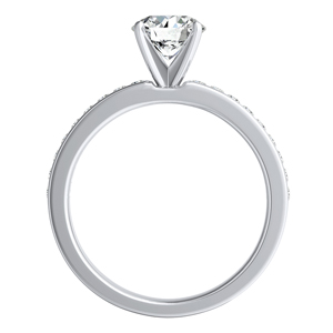 ALENA  Classic  Moissanite  Wedding  Ring  Set  In  14K  White  Gold  With  0.50  Carat  Round  Stone