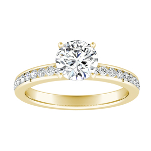 ALENA Classic Diamond Engagement Ring In 14K Yellow Gold
