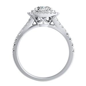 ALYSSA Double Halo Diamond Engagement Ring In 14K White Gold