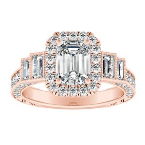 FAITH Vintage Diamond Engagement Ring In 14K Rose Gold