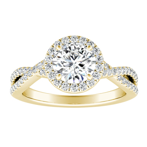 TAYLOR Halo Diamond Engagement Ring In 14K Yellow Gold