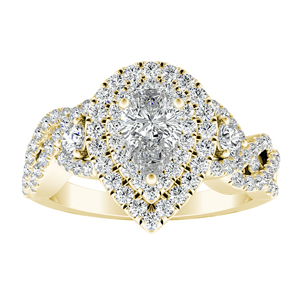 LAUREN Halo Diamond Engagement Ring In 14K Yellow Gold