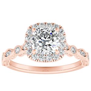 EMILIA Halo Diamond Engagement Ring In 14K Rose Gold