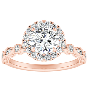 EMILIA Halo Diamond Engagement Ring In 14K Rose Gold