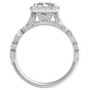 EMILIA Halo Diamond Engagement Ring In 14K White Gold