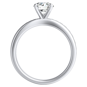 AUBREE Classic Diamond Engagement Ring In 14K White Gold