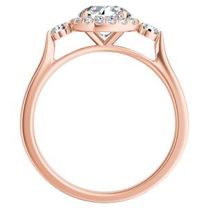 CLARA Halo Diamond Engagement Ring In 14K Rose Gold