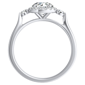 CLARA Halo Diamond Engagement Ring In 14K White Gold
