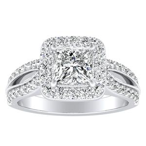 GIANNA Halo Diamond Engagement Ring In 14K White Gold