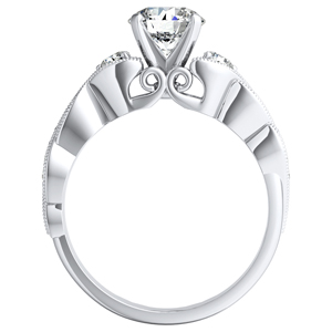 VALERIA Vintage Diamond Engagement Ring In 14K White Gold