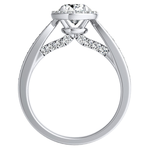 MARIA Halo Diamond Engagement Ring In 14K White Gold