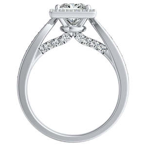 MARIA Halo Diamond Engagement Ring In 14K White Gold