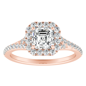 KHLOE Halo Diamond Engagement Ring In 14K Rose Gold