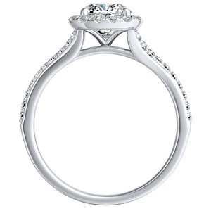 KHLOE Halo Diamond Engagement Ring In 14K White Gold