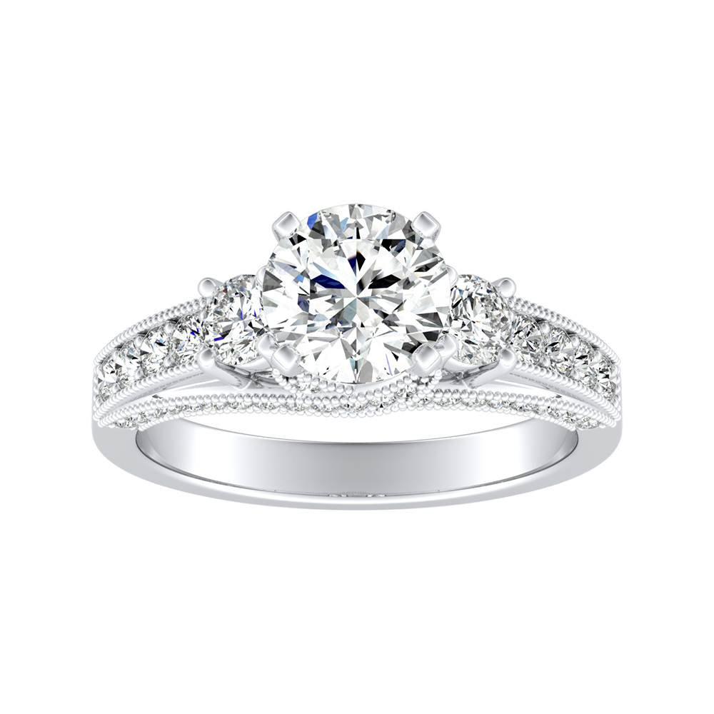 SOPHIE Diamond Engagement Ring In 14K White Gold