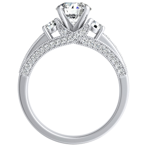 SOPHIE Diamond Engagement Ring In 14K White Gold