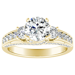 SOPHIE Diamond Engagement Ring In 14K Yellow Gold