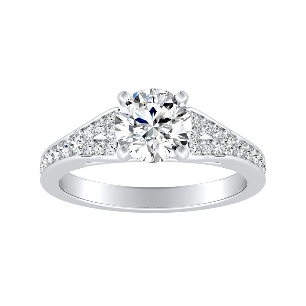 ANNE Diamond Engagement Ring In 14K White Gold