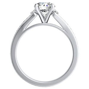 ANNE Diamond Engagement Ring In 14K White Gold