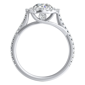VIVIAN Double Halo Diamond Engagement Ring In 14K White Gold