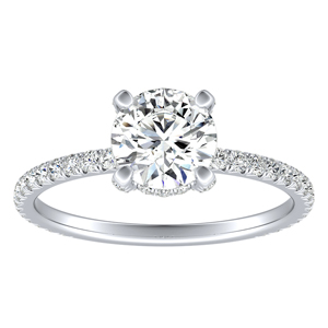 ALINA Classic Diamond Engagement Ring In 14K White Gold