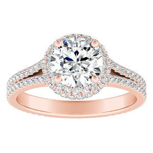 JOCELYN Halo Diamond Engagement Ring In 14K Rose Gold