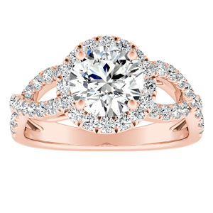 JULIANA Halo Diamond Engagement Ring In 14K Rose Gold