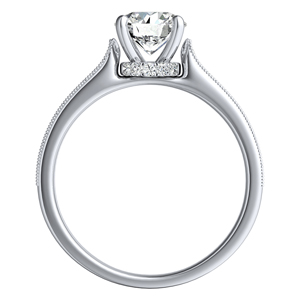 PAIGE Classic Diamond Engagement Ring In 14K White Gold