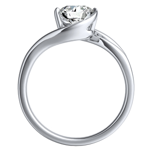 GAIA Solitaire Diamond Engagement Ring In 14K White Gold