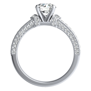 ANNA Diamond Engagement Ring In 14K White Gold
