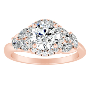 KAITLYN Halo Diamond Engagement Ring In 14K Rose Gold