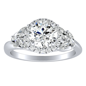 KAITLYN Halo Diamond Engagement Ring In 14K White Gold