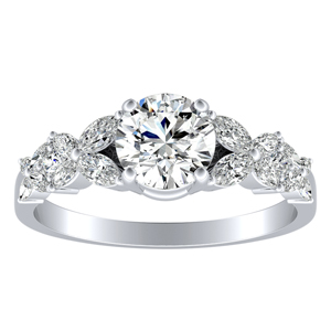 LAILA Modern Diamond Engagement Ring In 14K White Gold