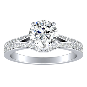 AMY Diamond Engagement Ring In 14K White Gold