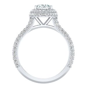 EVERLY Halo Diamond Engagement Ring In 14K White Gold