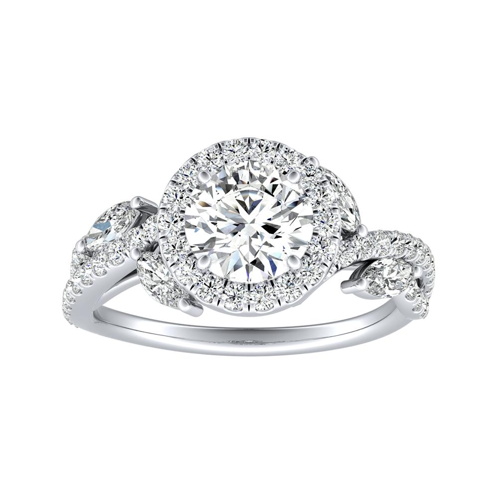 EDEN Halo Diamond Engagement Ring In 14K White Gold