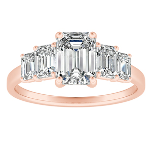 FAWN Diamond Engagement Ring In 14K Rose Gold
