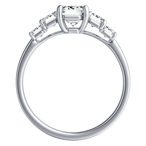 FAWN Diamond Engagement Ring In 14K White Gold