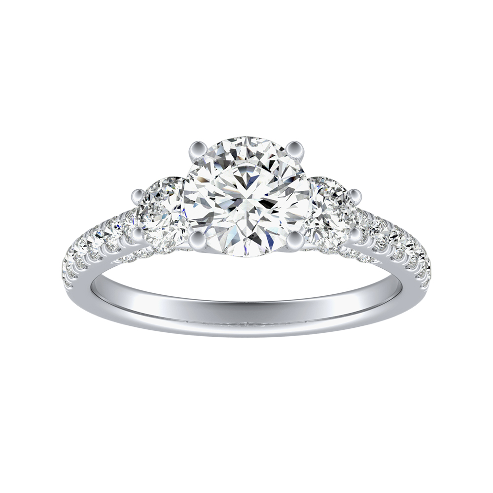 CECILIA Diamond Engagement Ring In 14K White Gold
