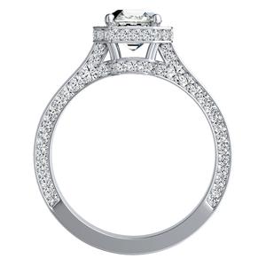 ALYSHA Halo Diamond Engagement Ring In 14K White Gold
