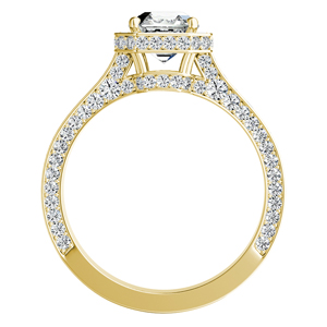 ALYSHA Halo Diamond Engagement Ring In 14K Yellow Gold