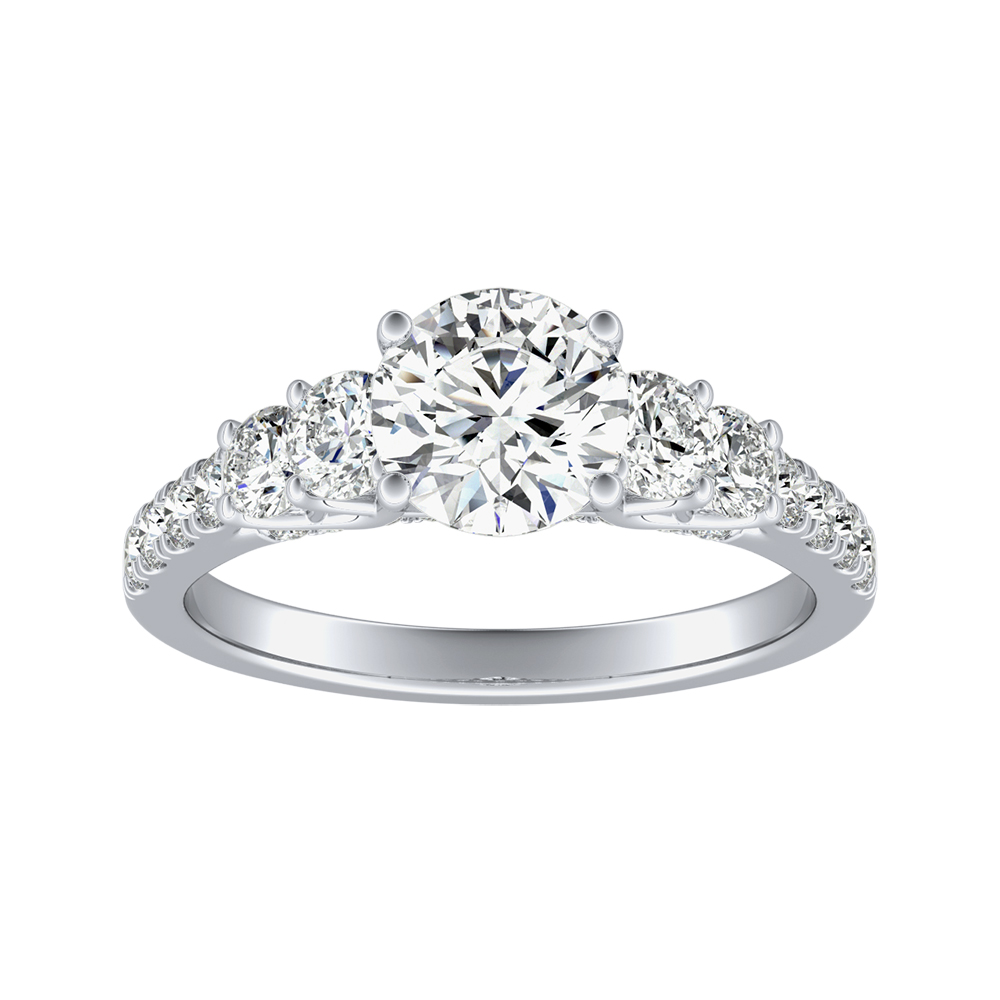 VALERIE Diamond Engagement Ring In 14K White Gold