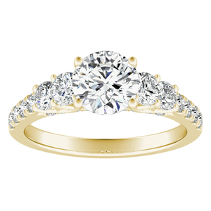 VALERIE Diamond Engagement Ring In 14K Yellow Gold