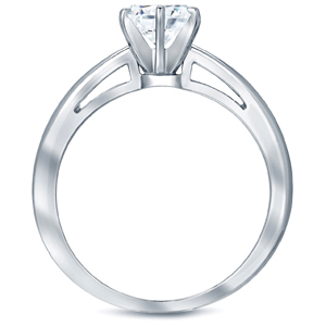 SCARLETT Solitaire Six Prong Diamond Engagement Ring In 14K White Gold