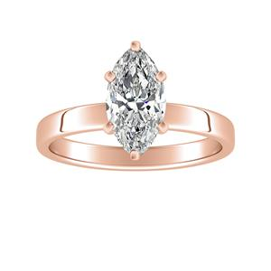 HARMONY Solitaire Diamond Engagement Ring In 14K Rose Gold