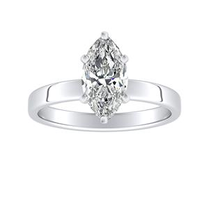 HARMONY Solitaire Diamond Engagement Ring In 14K White Gold